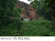 Kinver Edge is home to the last troglodyte dwellings occupied in England. (2016 год). Редакционное фото, агентство World History Archive / Фотобанк Лори