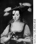 Portrait of Ana de Mendoza, Princess of Eboli. Редакционное фото, агентство World History Archive / Фотобанк Лори