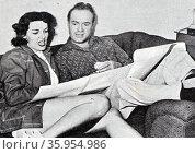 Photograph of Jane Russell and Bob Hope. Редакционное фото, агентство World History Archive / Фотобанк Лори