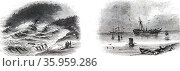 Illustration depicting the wreck of the Transport 'Premier' Редакционное фото, агентство World History Archive / Фотобанк Лори