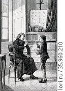 Illustration of Charles-Michel de l'Épée. Редакционное фото, агентство World History Archive / Фотобанк Лори
