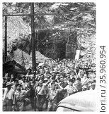 Photograph of the restaged Japanese Surrender of the Malinta Tunnel in World War Two. Редакционное фото, агентство World History Archive / Фотобанк Лори