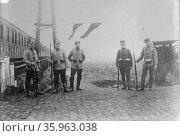 Dutch soldiers on Belgian Frontier. Редакционное фото, агентство World History Archive / Фотобанк Лори