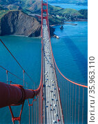 Photograph of the Golden Gate Bridge and 'The Bay. Редакционное фото, агентство World History Archive / Фотобанк Лори