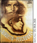 Poster for the Spanish edition of the Soviet epic film, Revolt of the Fishermen. Редакционное фото, агентство World History Archive / Фотобанк Лори