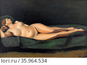 female nude 1935, By Andre Derain. Редакционное фото, агентство World History Archive / Фотобанк Лори