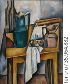 Still life on a table 1910 by Andre Derain. Редакционное фото, агентство World History Archive / Фотобанк Лори