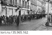 1936 public sector strikes. Редакционное фото, агентство World History Archive / Фотобанк Лори