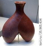 Double flask. Early Predynastic Egyptian,(Naqada HA), (about 3800 BC) Редакционное фото, агентство World History Archive / Фотобанк Лори