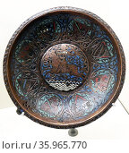 Dish with Cavalier by Anonymous. Редакционное фото, агентство World History Archive / Фотобанк Лори