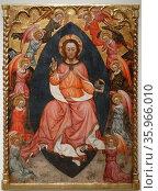 Altarpiece titled 'Salvador' by Pere Teixidor. Редакционное фото, агентство World History Archive / Фотобанк Лори