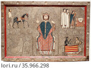 The Altar frontal Gia by the Workshop of Ribagorza. Редакционное фото, агентство World History Archive / Фотобанк Лори