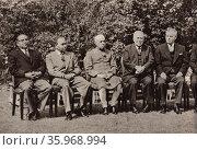 U.K. Commonwealth Prime Ministers' Conference 1960. Редакционное фото, агентство World History Archive / Фотобанк Лори