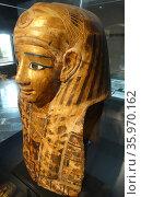 Ancient Egyptian funeral mask. Greco-Egyptian. Редакционное фото, агентство World History Archive / Фотобанк Лори