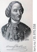 Portrait of Carlos Francisco de Croix, marked Cross. Редакционное фото, агентство World History Archive / Фотобанк Лори