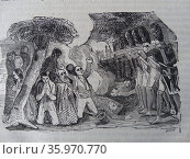 Engraving depicting the night of executions on May 2nd 1808. Редакционное фото, агентство World History Archive / Фотобанк Лори
