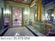 Barcelona. Catalonia. Spain. The Gran Teatre del Liceu Opera House. (2020 год). Редакционное фото, фотограф Marco Brivio / age Fotostock / Фотобанк Лори