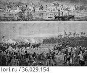 The rebellion of the sudan, the illustrated universe 1882, publisher... (2009 год). Редакционное фото, фотограф Louis Bertrand / age Fotostock / Фотобанк Лори