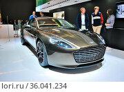 FRANKFURT - SEPT 14: Aston Martin Rapide S presented as world premiere... Стоковое фото, фотограф Zoonar.com/Dmitry Orlov / age Fotostock / Фотобанк Лори