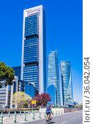 Ã. rea de negocios de Cuatro Torres - Four Towers Business Area is... Стоковое фото, фотограф Marcelino Ramírez / age Fotostock / Фотобанк Лори