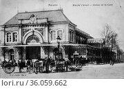Nevers, marche carnot, postcard 1900. (2009 год). Редакционное фото, фотограф Louis Bertrand / age Fotostock / Фотобанк Лори