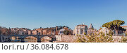 Classical Rome cityscape with Ponte Vittoria Emanuele II. Стоковое фото, фотограф Zoonar.com/Silvia Eder / easy Fotostock / Фотобанк Лори