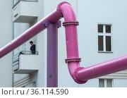 """Berlin, Germany - Underground drainage pipes from construction sites"" Редакционное фото, агентство Caro Photoagency / Фотобанк Лори"