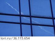 """Frankfurt am Main, Germany, aircraft reflected in a glass facade"" Редакционное фото, агентство Caro Photoagency / Фотобанк Лори"