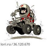 Cartoon Buggy. Стоковая иллюстрация, иллюстратор Александр Володин / Фотобанк Лори