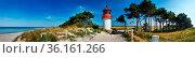 Lighthouse Gellen on Isle Hiddensee. Стоковое фото, фотограф Zoonar.com/Stefan Dinse / age Fotostock / Фотобанк Лори