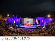 67th Taormina Film Festival, the Teatro Antico ,Taormina, ITALY-26... Редакционное фото, фотограф Maria Laura Antonelli / AGF/Maria Laura Antonelli / age Fotostock / Фотобанк Лори