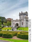 Dromoland Castle is a castle, located near Newmarket-on-Fergus in... Стоковое фото, фотограф Zoonar.com/Boris Breytman / easy Fotostock / Фотобанк Лори