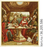 The Four Doctors of the Latin Church, painting by Sacchi di Pavia... Редакционное фото, фотограф Jerónimo Alba / age Fotostock / Фотобанк Лори