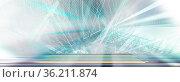 Abstraktes farbiges Liniennetz auf Hintergrund-Struktur. Wellen, Linien... Стоковое фото, фотограф Zoonar.com/wolfgang rieger / easy Fotostock / Фотобанк Лори