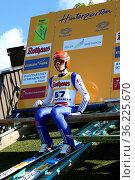 David Siegel (SV Baiersbronn) bei der Skisprung DM Einzel Hinterzarten... Стоковое фото, фотограф Zoonar.com/Joachim Hahne / age Fotostock / Фотобанк Лори