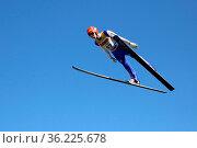 David Siegel (SV Baiersbronn) bei Skisprung DM Einzel Hinterzarten... Стоковое фото, фотограф Zoonar.com/Joachim Hahne / age Fotostock / Фотобанк Лори