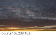 Landscape time lapse of sunset. Стоковое видео, видеограф Игорь Жоров / Фотобанк Лори