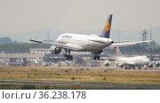 Passenger plane landing in Germany (2017 год). Редакционное видео, видеограф Игорь Жоров / Фотобанк Лори