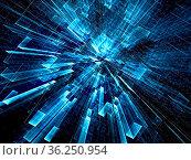 Dark blue background - abstract computer-generated image. Digital... Стоковое фото, фотограф Zoonar.com/Olga Gavrilenko / easy Fotostock / Фотобанк Лори