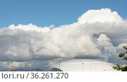 Timelapse, clouds in the sky. Стоковое видео, видеограф Игорь Жоров / Фотобанк Лори