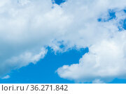 Background, cloudscape - blue sky with clouds. Стоковое фото, фотограф Евгений Харитонов / Фотобанк Лори