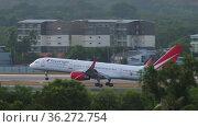 Royal Flight landed at Phuket airport. Редакционная анимация, видеограф Игорь Жоров / Фотобанк Лори