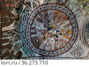 Kuppel mit der Darstellung von neun Aposteln und girlandenförmigen... Стоковое фото, фотограф Zoonar.com/GFC Collection / age Fotostock / Фотобанк Лори
