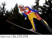 Jonathan Siegel (SV Baiersbronn) beim FIS Continental Cup Skispringen... Стоковое фото, фотограф Zoonar.com/Joachim Hahne / age Fotostock / Фотобанк Лори