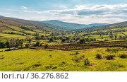 Yorkshire Dales landscape in the Dent Dale near Cowgill, Cumbria,... Стоковое фото, фотограф Zoonar.com/Bernd Brueggemann / easy Fotostock / Фотобанк Лори