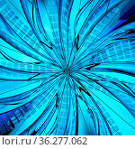 City abstract blue light center spiral 3d illustration, square background... Стоковое фото, фотограф Zoonar.com/Viktors Ignatenko / easy Fotostock / Фотобанк Лори