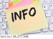 Info Infos Information Informationen News Nachrichten Notizzettel... Стоковое фото, фотограф Zoonar.com/Markus Mainka / easy Fotostock / Фотобанк Лори