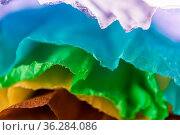 Crumpled multi-colored real colorful paper sheets texture backdrop... Стоковое фото, фотограф Zoonar.com/BASHTA / easy Fotostock / Фотобанк Лори