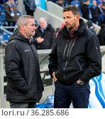 Manager Mario Kallnik 1.FC Magdeburg und Manager Ralph Kühne Hallescher... Стоковое фото, фотограф Zoonar.com/Axel Kammerer / age Fotostock / Фотобанк Лори