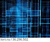 Technology background - abstract computer-generated image. Fractal... Стоковое фото, фотограф Zoonar.com/Olga Gavrilenko / easy Fotostock / Фотобанк Лори